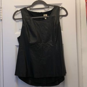 DL1961 black leather tank 100% real leather